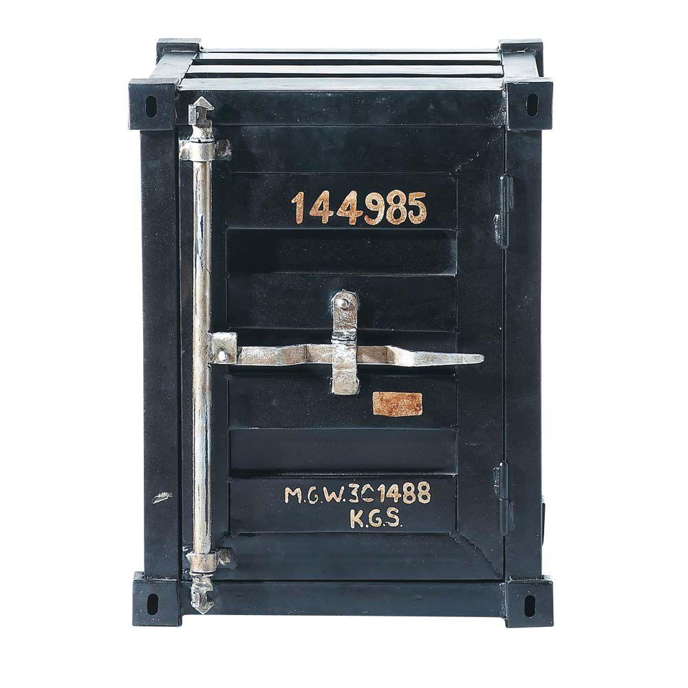 Bout de canap container en m tal noir l 46 cm carlingue for Bout de canape noir