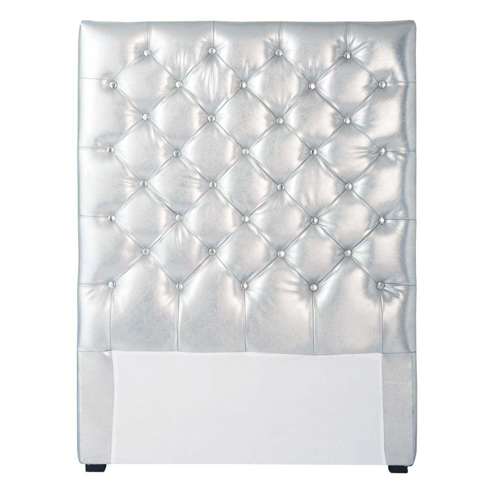 t te de lit enfant argent capitonn e chesterfield. Black Bedroom Furniture Sets. Home Design Ideas