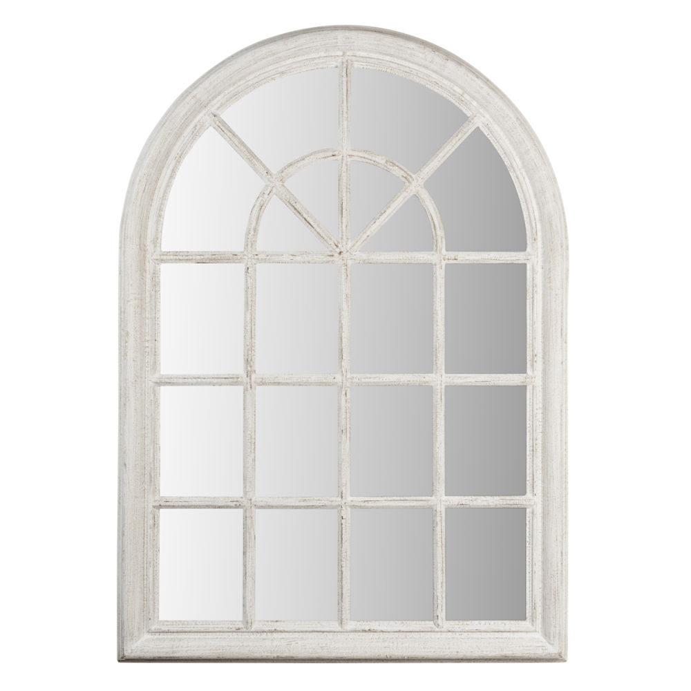 Miroir blanc serrant petit mod le maisons du monde for Miroir petit