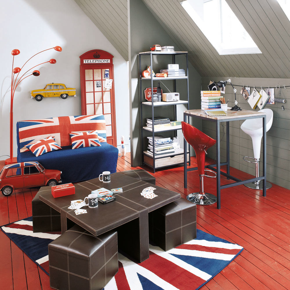 Staande lamp octopus rood maisons du monde for Chambre ado style british
