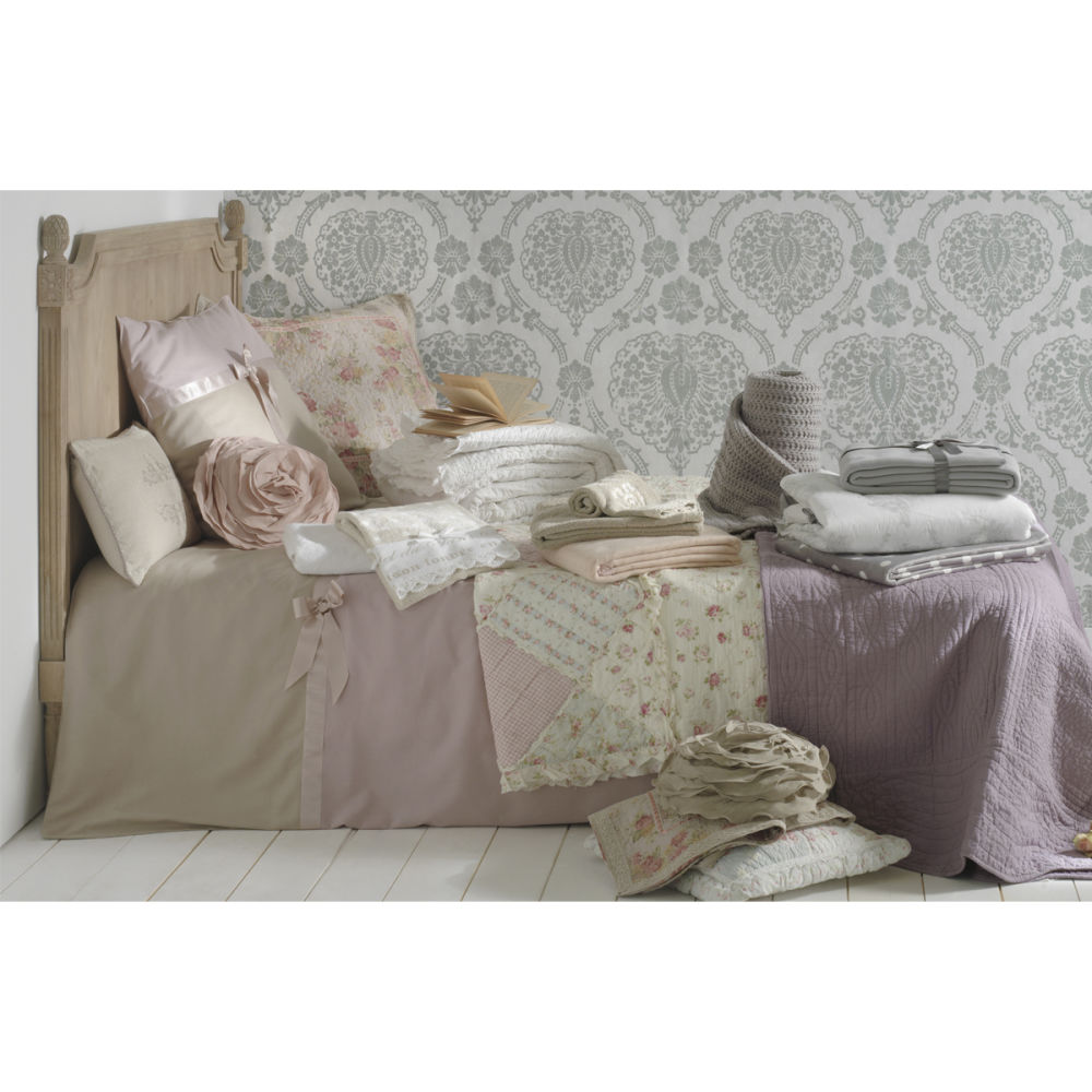 T te de lit 140 bois gris chenonceau maisons du monde - Tete de lit bois gris ...