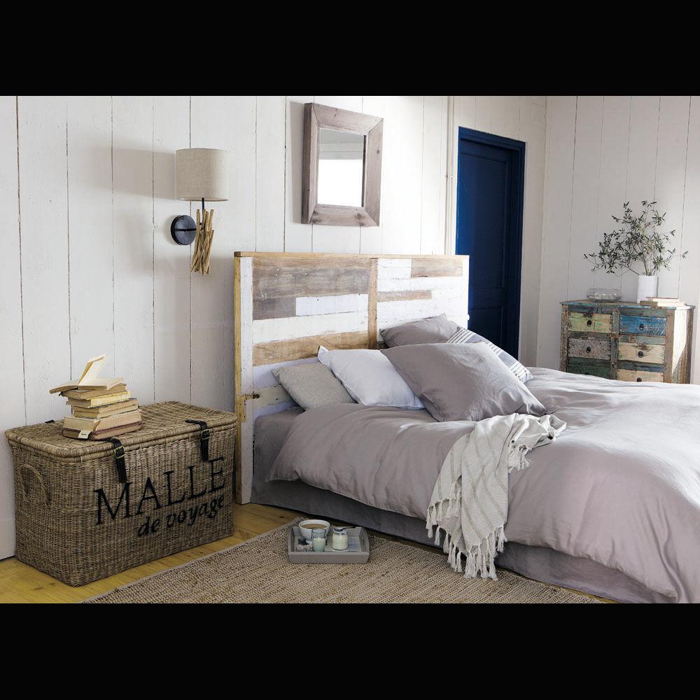 T te de lit en bois recycl l 160 cm arcachon maisons du for Chambre maison du monde