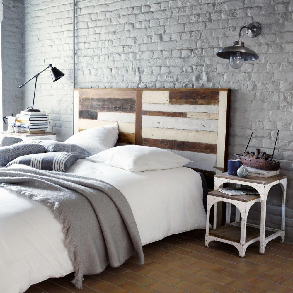 Tête de lit en bois recyclé L 160 cm Arcachon  Maisons du