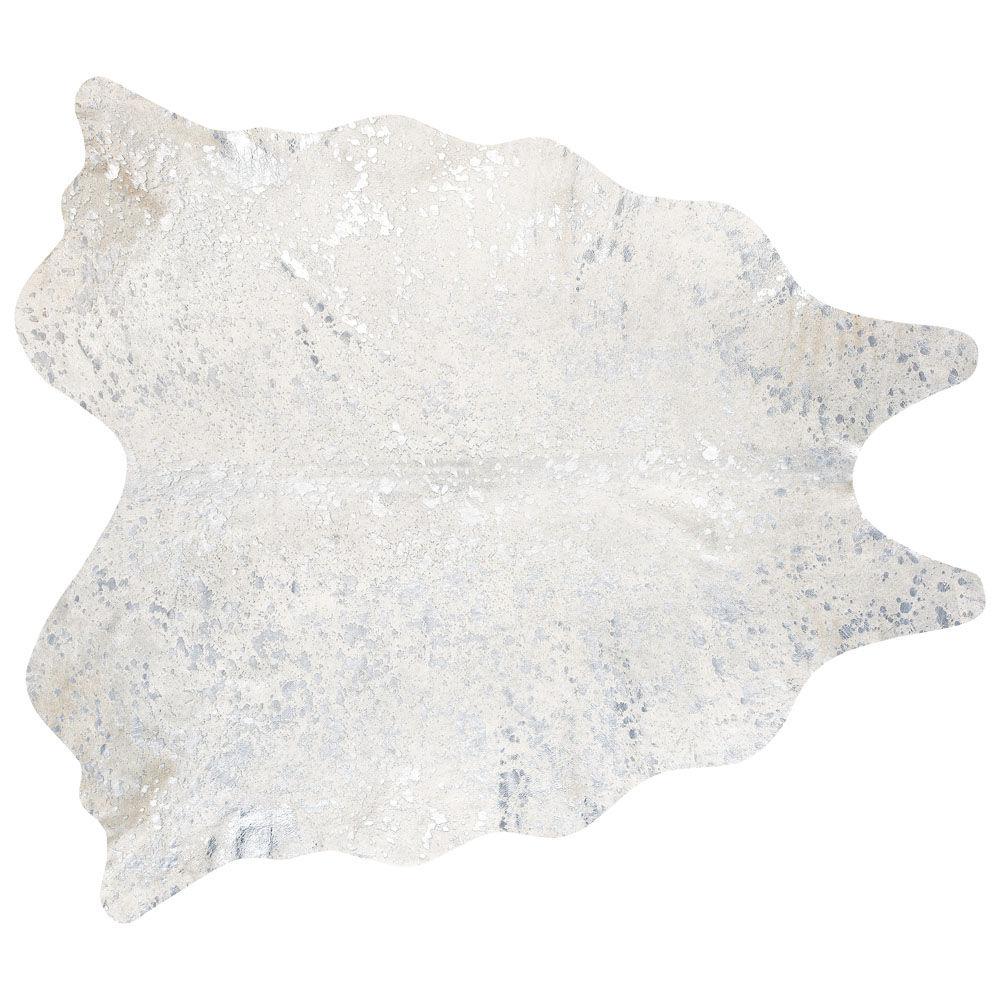 tapis 224 poils courts en cuir blanc 170 x 240 cm grand nord maisons du monde