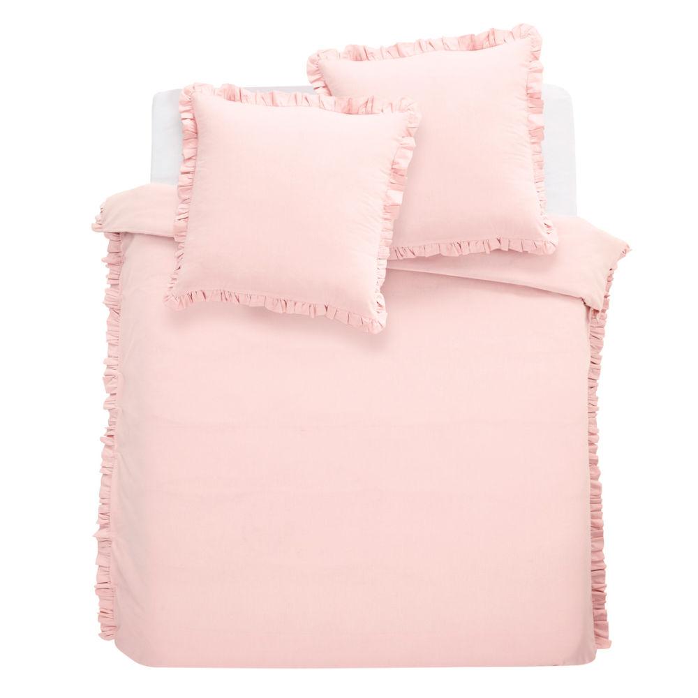 Parure housse de couette enfant rose anais 240x220 for Housse de couette ikea enfant