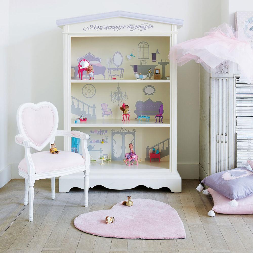 Kinderteppich herz rosa maisons du monde - Bibliotheque vertbaudet ...