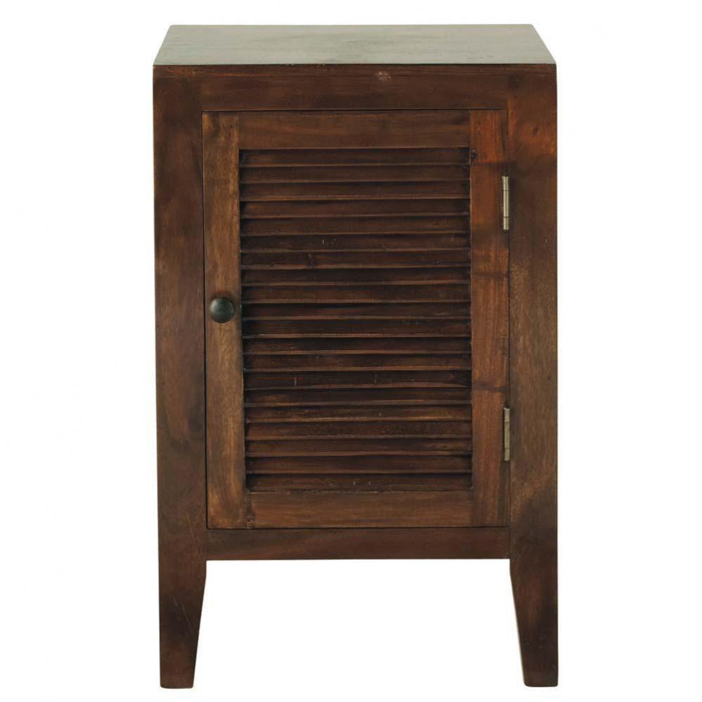 Table de chevet en acacia massif l 40 cm hanoi maisons for Table de chevet exotique
