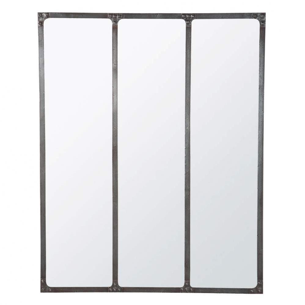 Miroir cargo maisons du monde for Miroir maison