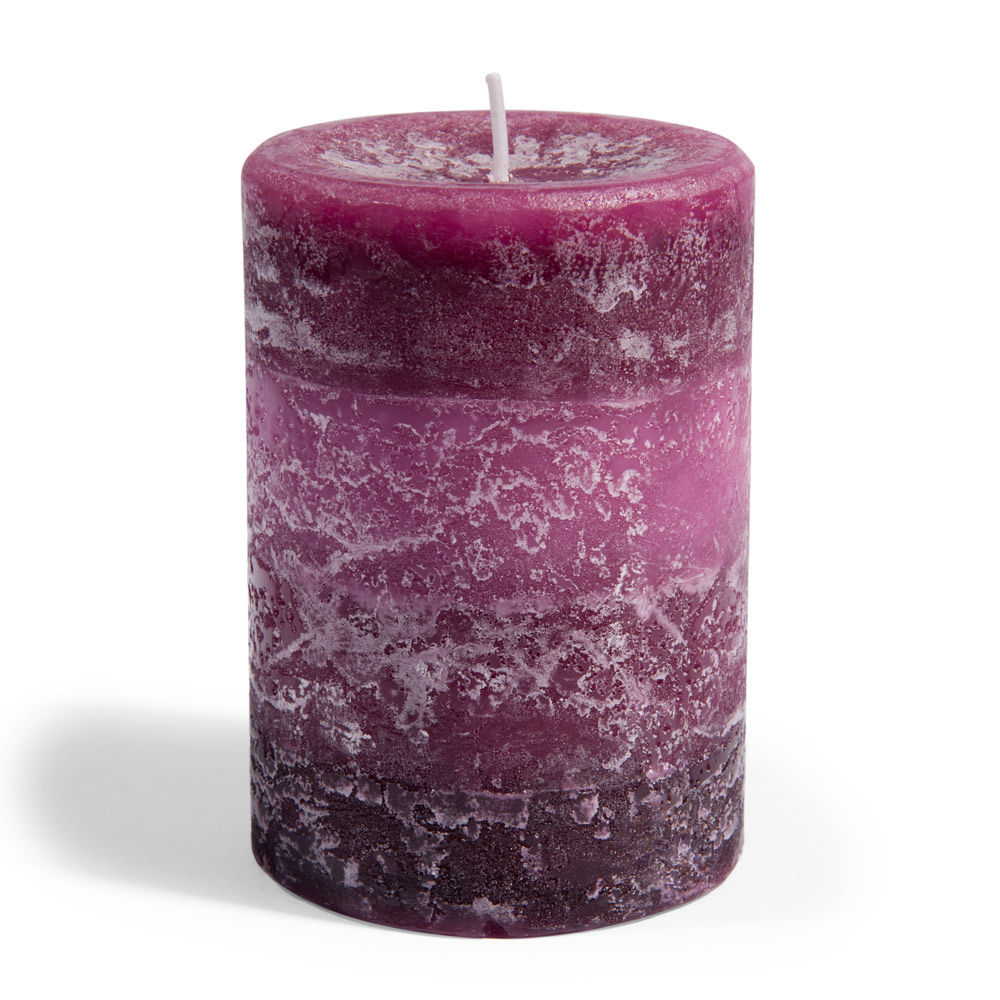Bougie Cylindrique Prune H 10 Cm Maisons Du Monde