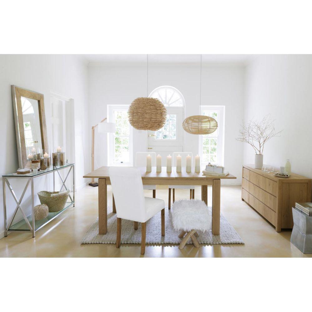 Lampadaire en bois et coton h 180 cm taiga maisons du monde - Lampadaire style scandinave ...