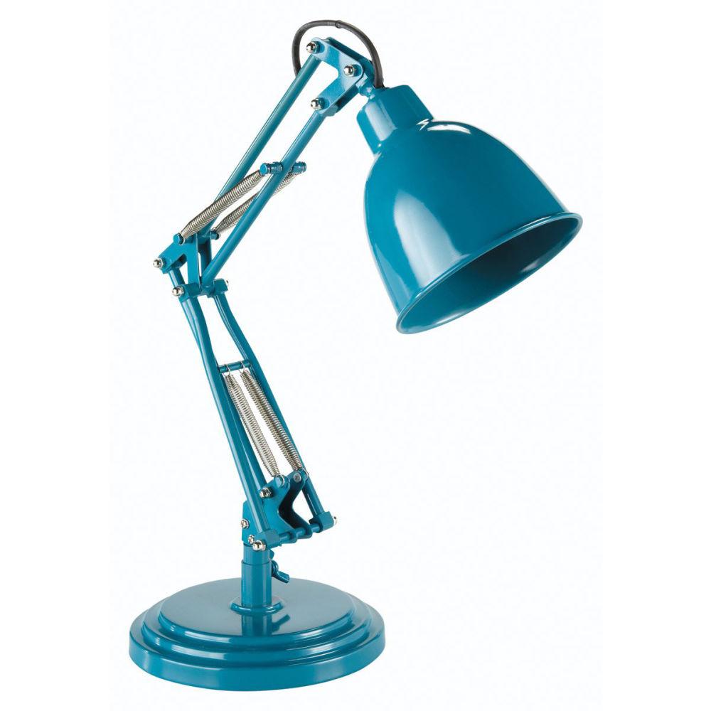 Lampe paterson bleu canard maisons du monde for Lampe de bureau maison du monde