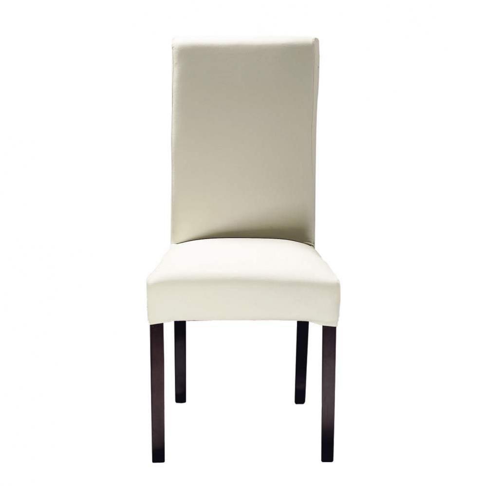Chaise en tissu et bois ivoire margaux maisons du monde - Housse de chaise maison du monde ...