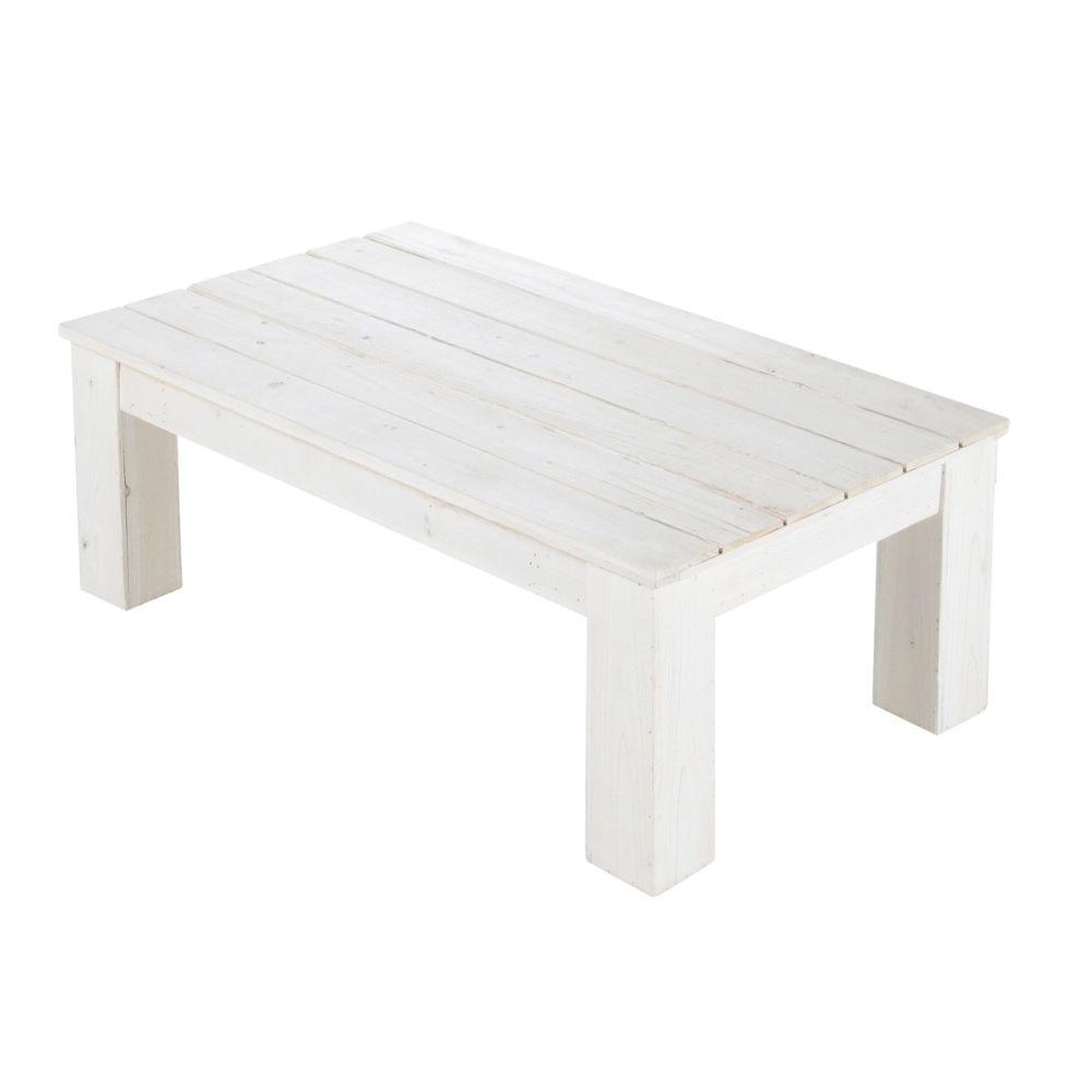 Table basse de jardin blanche faro maisons du monde - Table blanche jardin ...