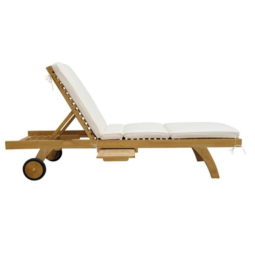 Sun lounger mattress ol ron ol ron maisons du monde for Transat chaise longue bain de soleil