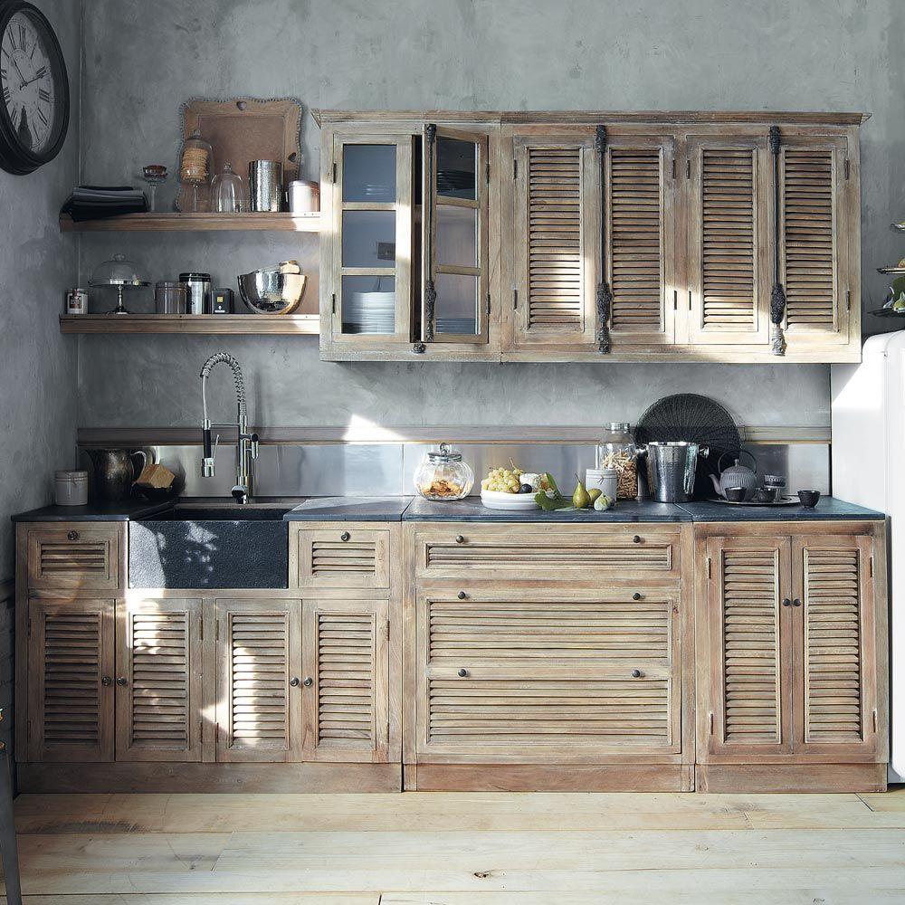 meuble comptoir de cuisine maison du monde ventana blog. Black Bedroom Furniture Sets. Home Design Ideas