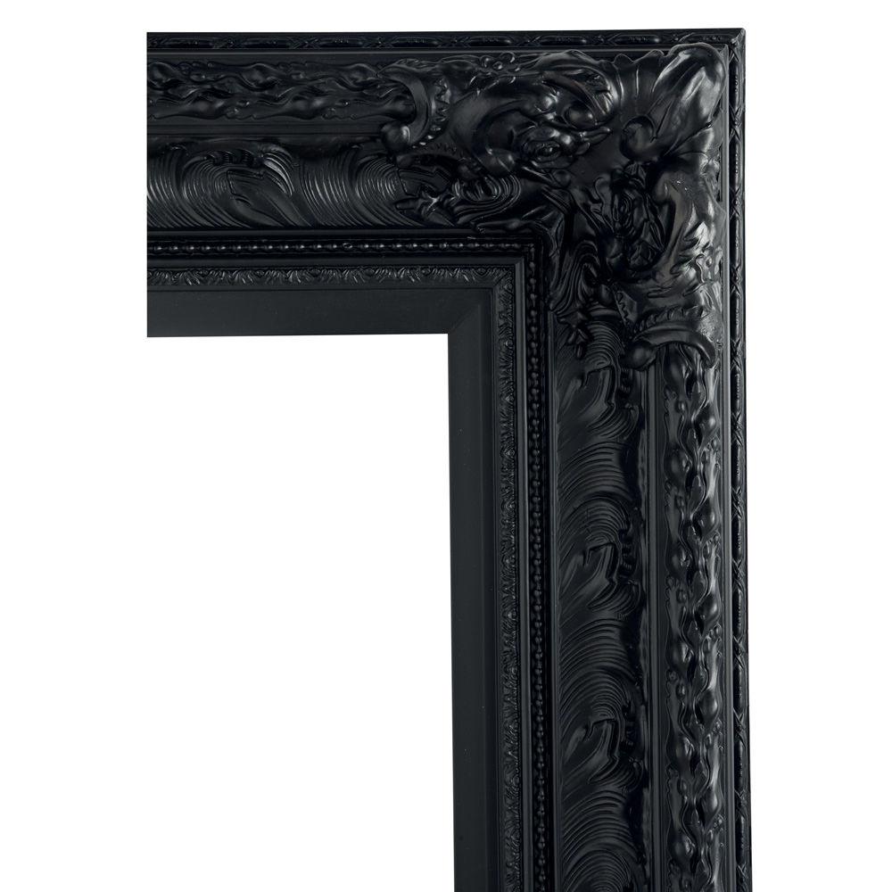 Miroir marquise noir 95x180 maisons du monde for Miroir noir rectangulaire