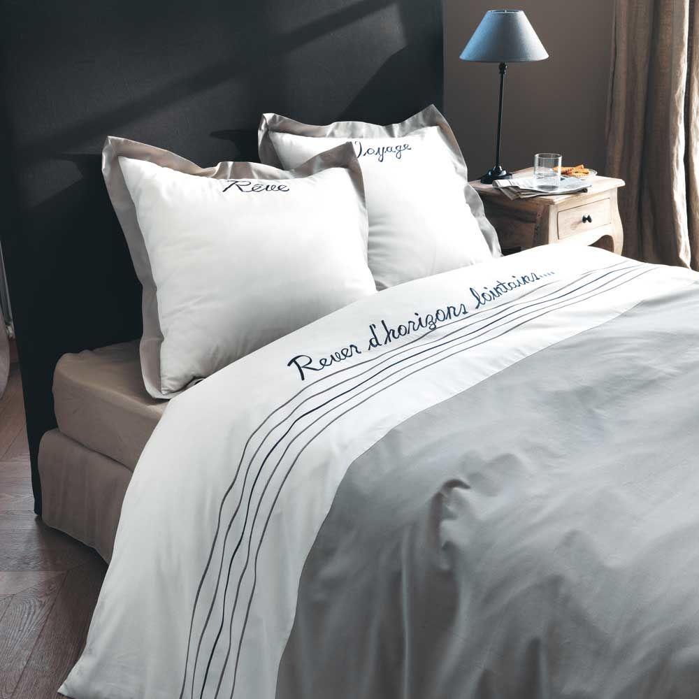 parure voyage 140x200 maisons du monde. Black Bedroom Furniture Sets. Home Design Ideas