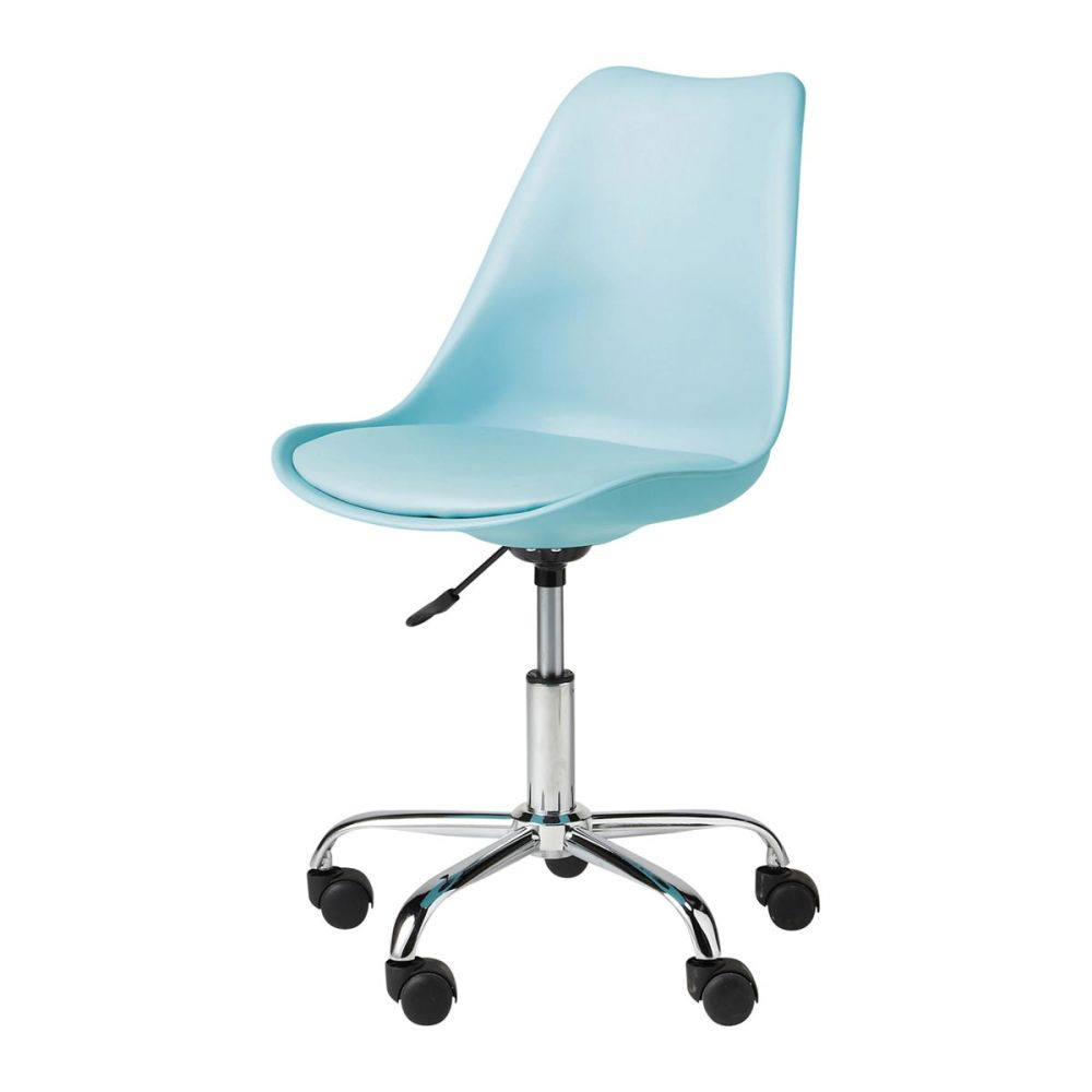 Chaise de bureau bleue bristol maisons du monde for Chaises de bureau but