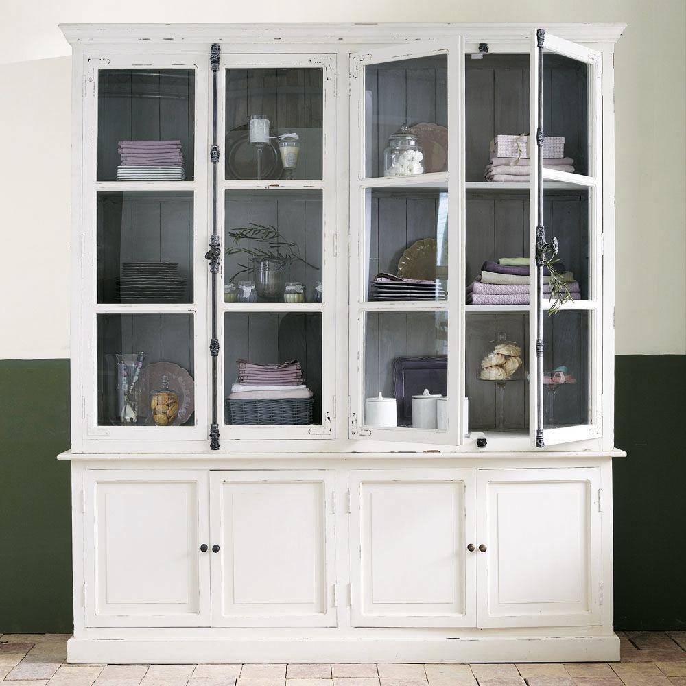 bahut en manguier blanc l 200 cm montmartre maisons du monde. Black Bedroom Furniture Sets. Home Design Ideas
