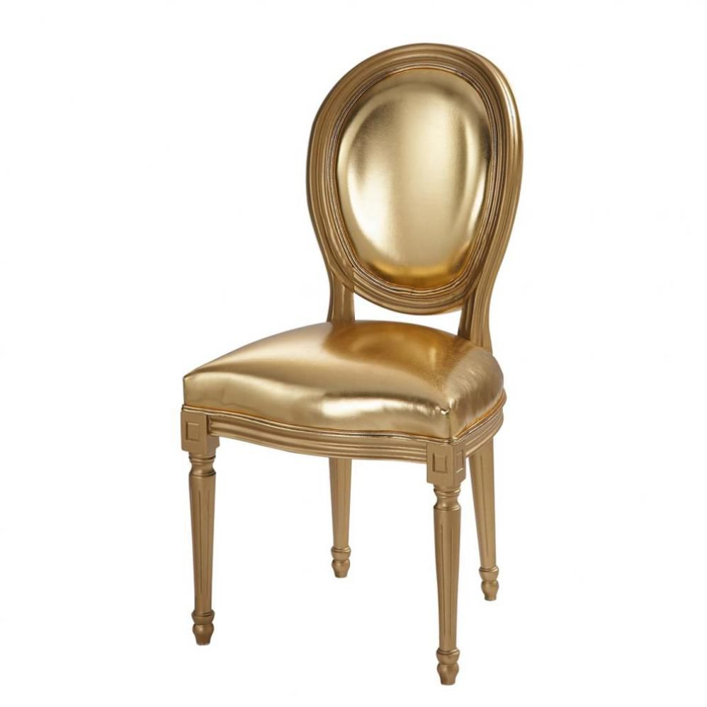 Gold Chair Louis Maisons Du Monde