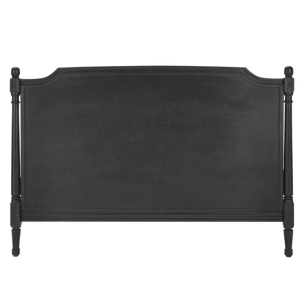 T te de lit 170 bois gris anthracite chenonceau - Tete de lit bois gris ...