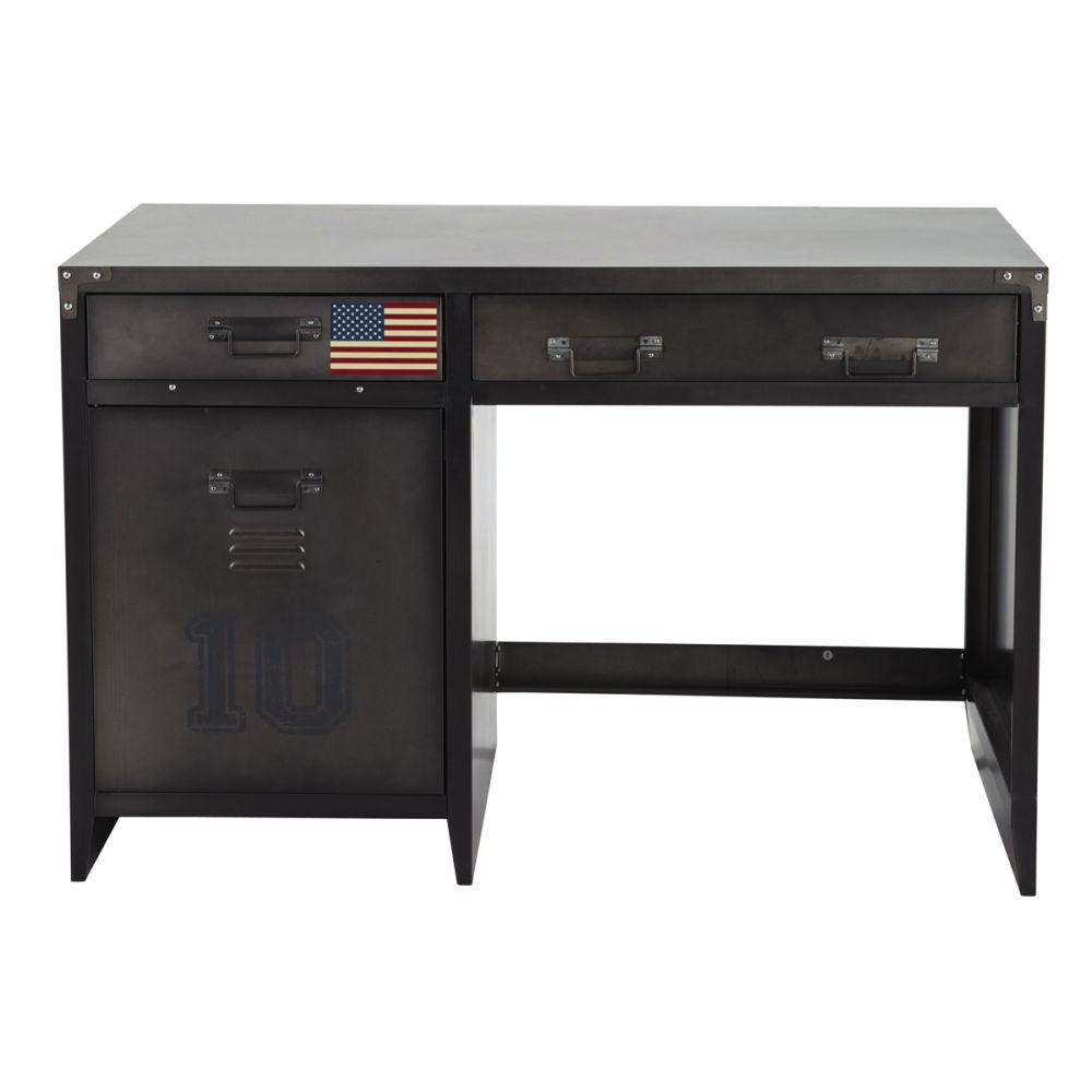 Metal industrial desk W 115cm Andrews Maisons du Monde