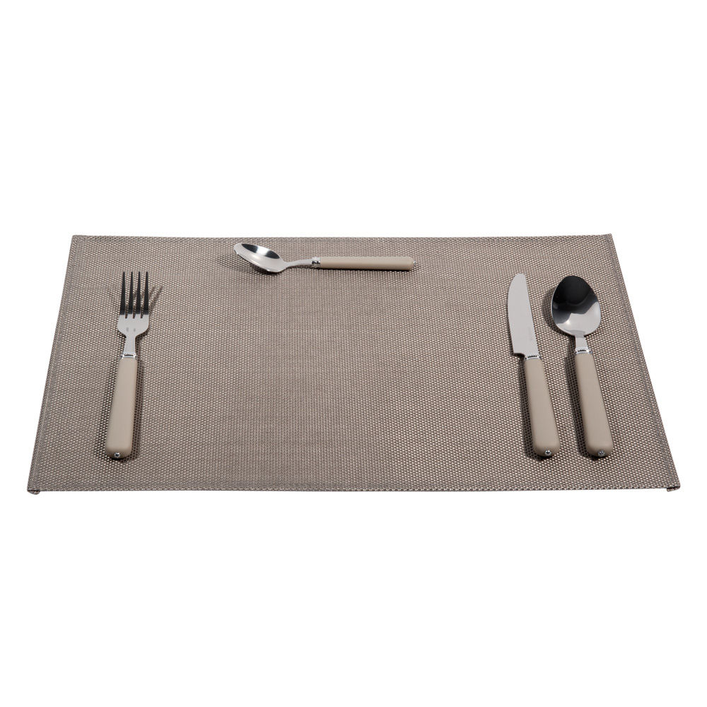 Sets de table acier gris maisons du monde for Sets de table rigides