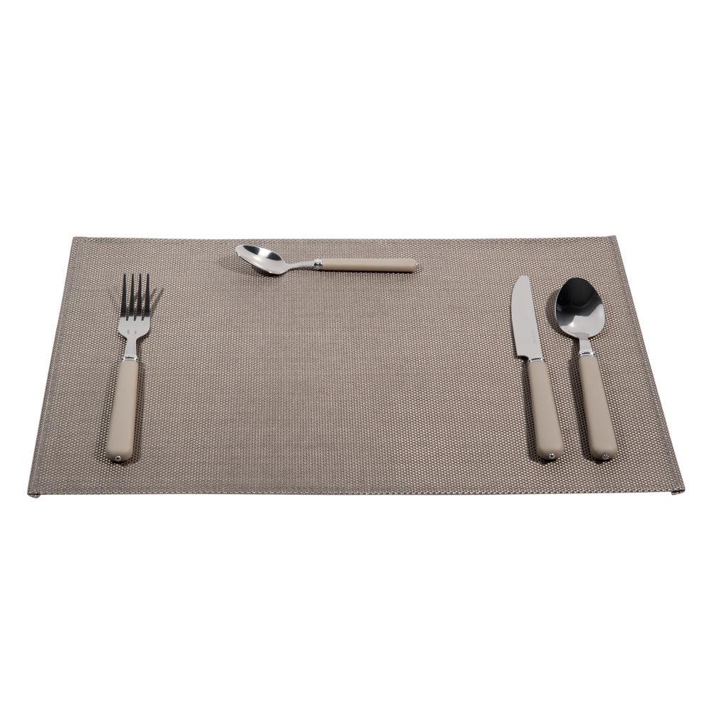 sets de table acier gris | maisons du monde