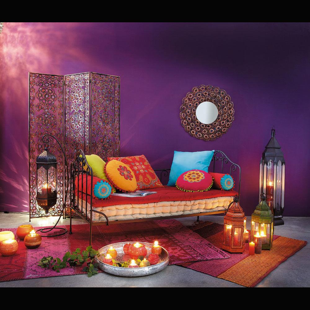 ensemble de 7 coussins et matelas roulotte maisons du monde. Black Bedroom Furniture Sets. Home Design Ideas