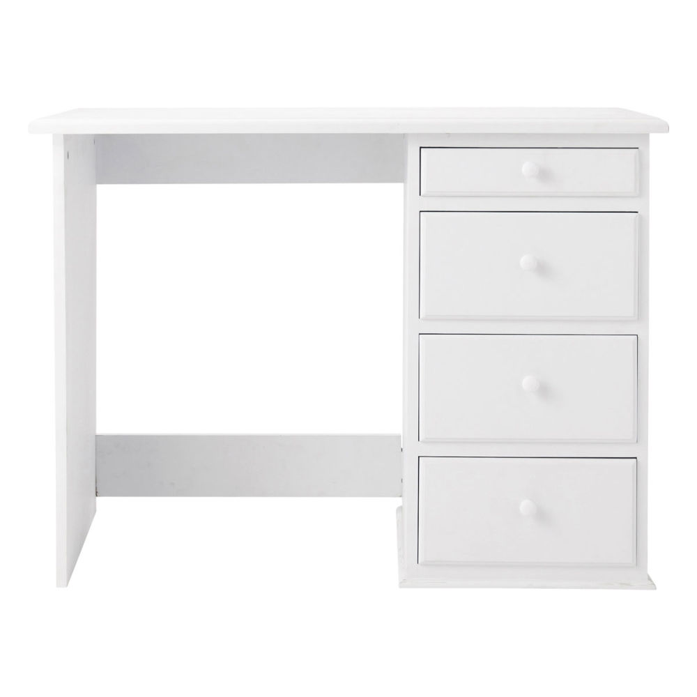 bureau enfant blanc pastel maisons du monde. Black Bedroom Furniture Sets. Home Design Ideas