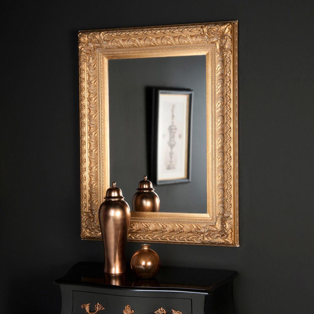 Miroir marquise or 125x95 maisons du monde for Miroir industriel maison du monde