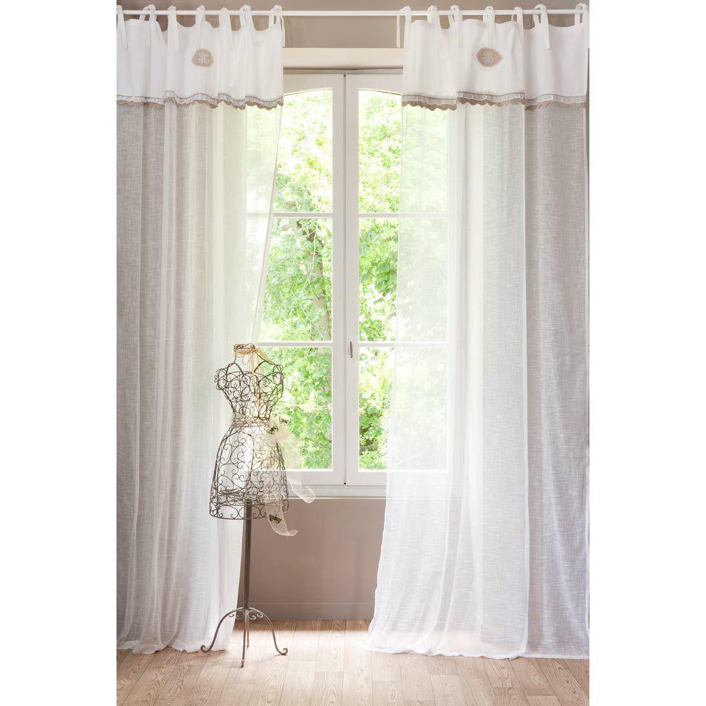 maison du monde rideaux rideau en lin maisons du monde. Black Bedroom Furniture Sets. Home Design Ideas