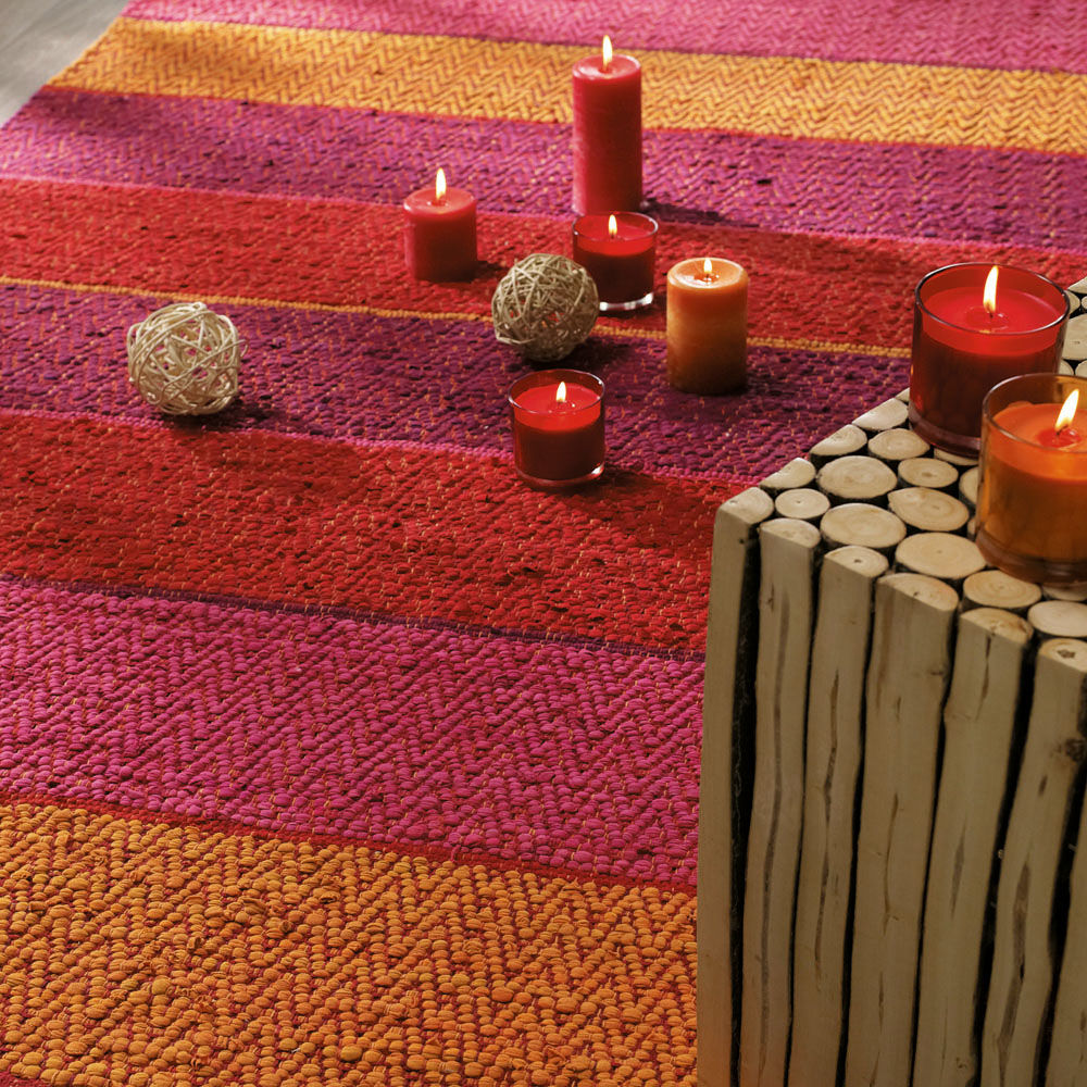 Teppich bunt gestreift Hacienda 140×200  Maisons du Monde