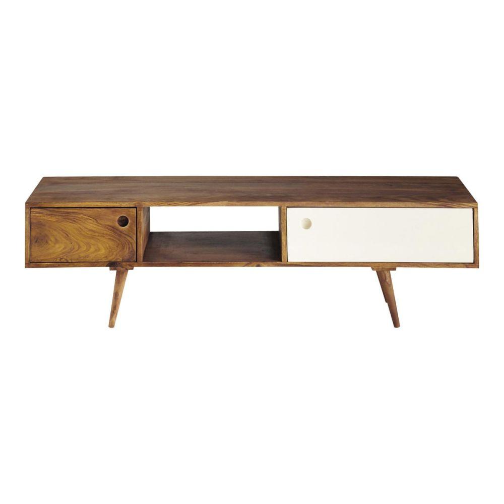 meuble tv vintage en bois de sheesham l 140 cm andersen. Black Bedroom Furniture Sets. Home Design Ideas