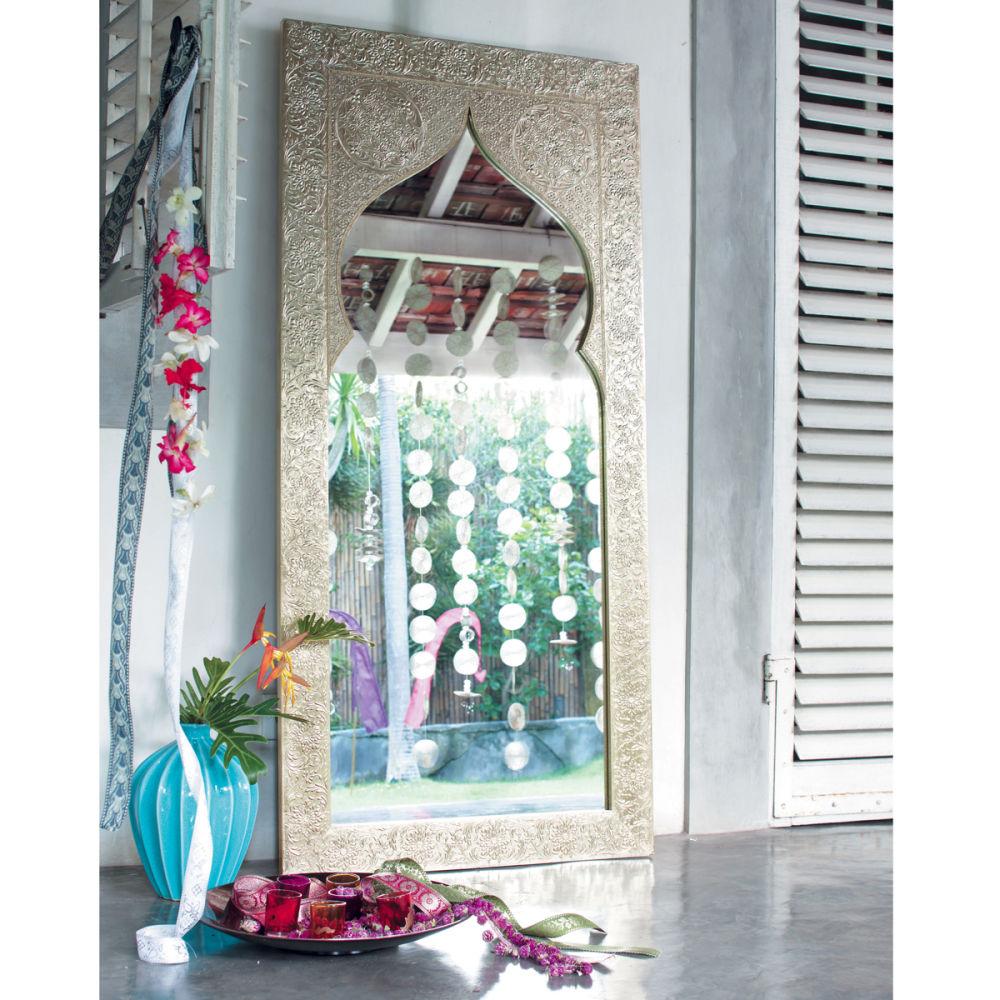 Miroir en bois h 160 cm latipur maisons du monde for Miroir exotique