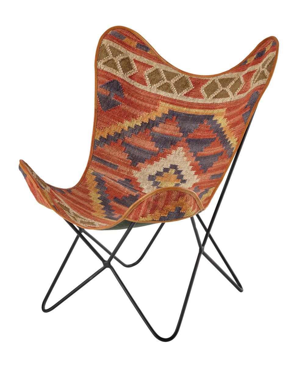 Kilim armchair multicoloured Kilim