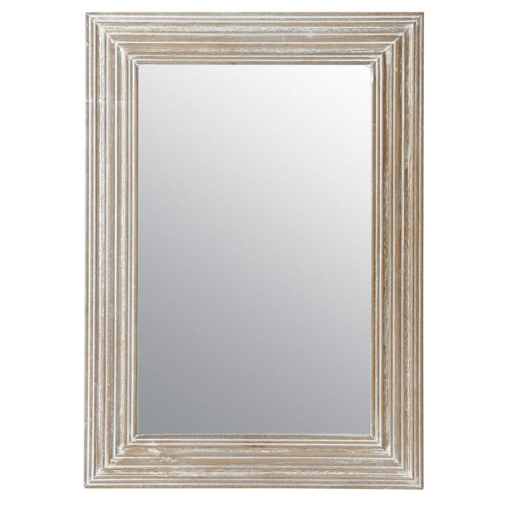 Miroir campagne clair 70x50 maisons du monde for Miroir petit format
