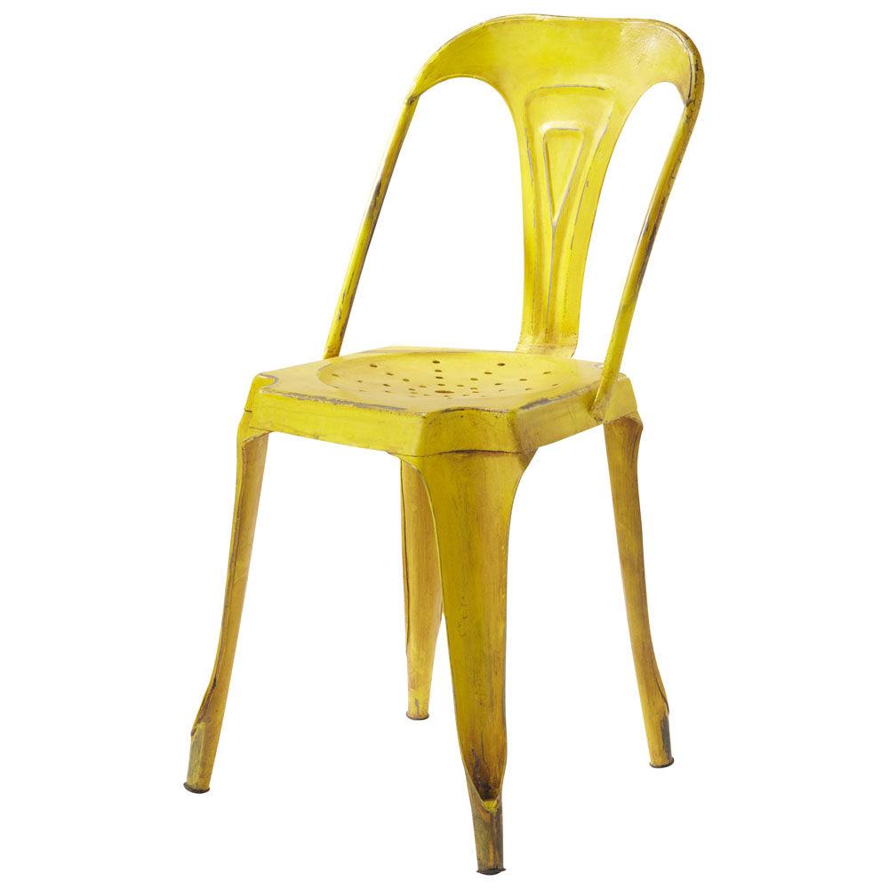 Chaise indus en m tal jaune multipl 39 s maisons du monde - Chaise a bascule maison du monde ...