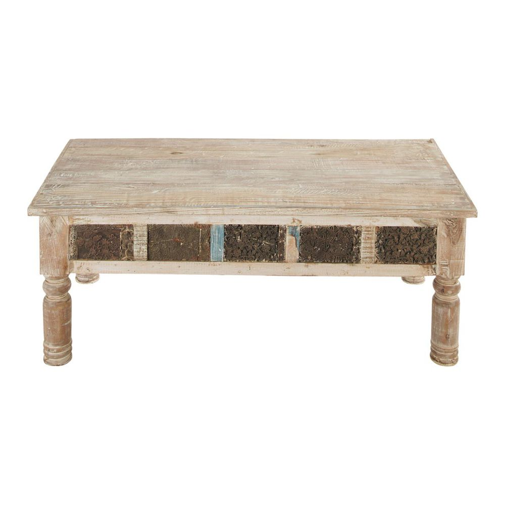 Table Basse Indienne Bois Recycl Karma Maisons Du Monde