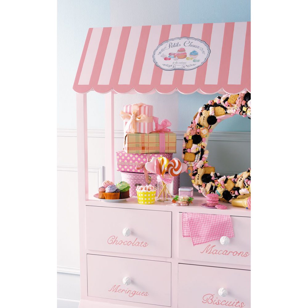 Etag re enfant rose gourmandise maisons du monde for Etagere enfant deco