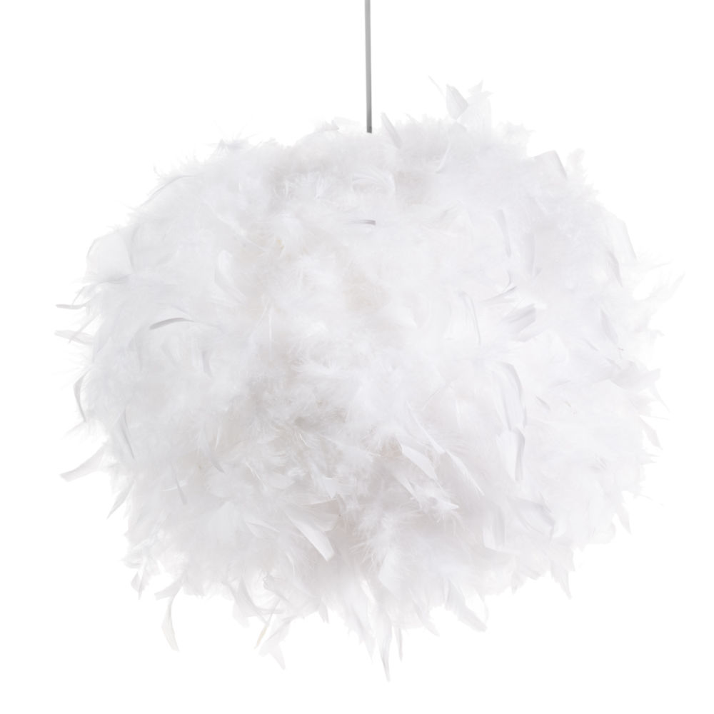 top fabulous suspension non lectrifie en plumes blanches feathers maisons du monde with maison. Black Bedroom Furniture Sets. Home Design Ideas