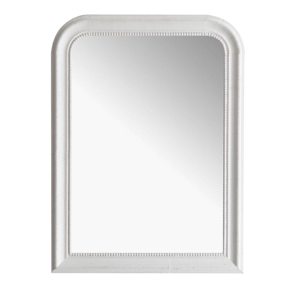 Miroir louis blanc 60x80 maisons du monde for Miroir blanc