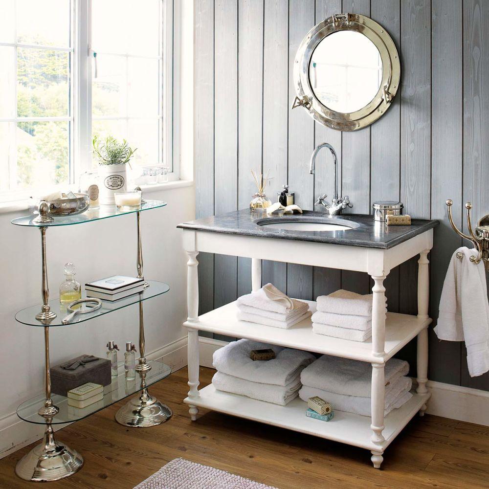 Meuble vasque gris salle de bain Ostende  Maisons du Monde