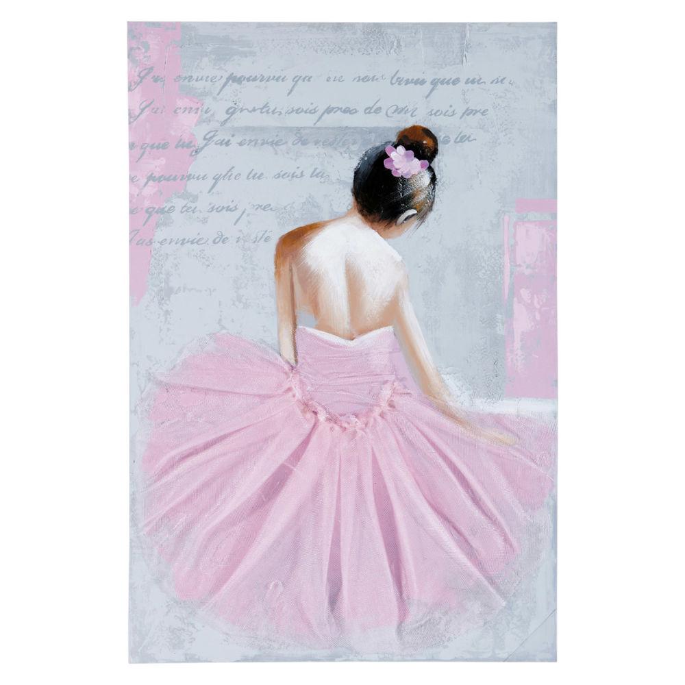 tela ballerina 60 x 90 cm anastasia maisons du monde - Maison Du Monde Ballerina