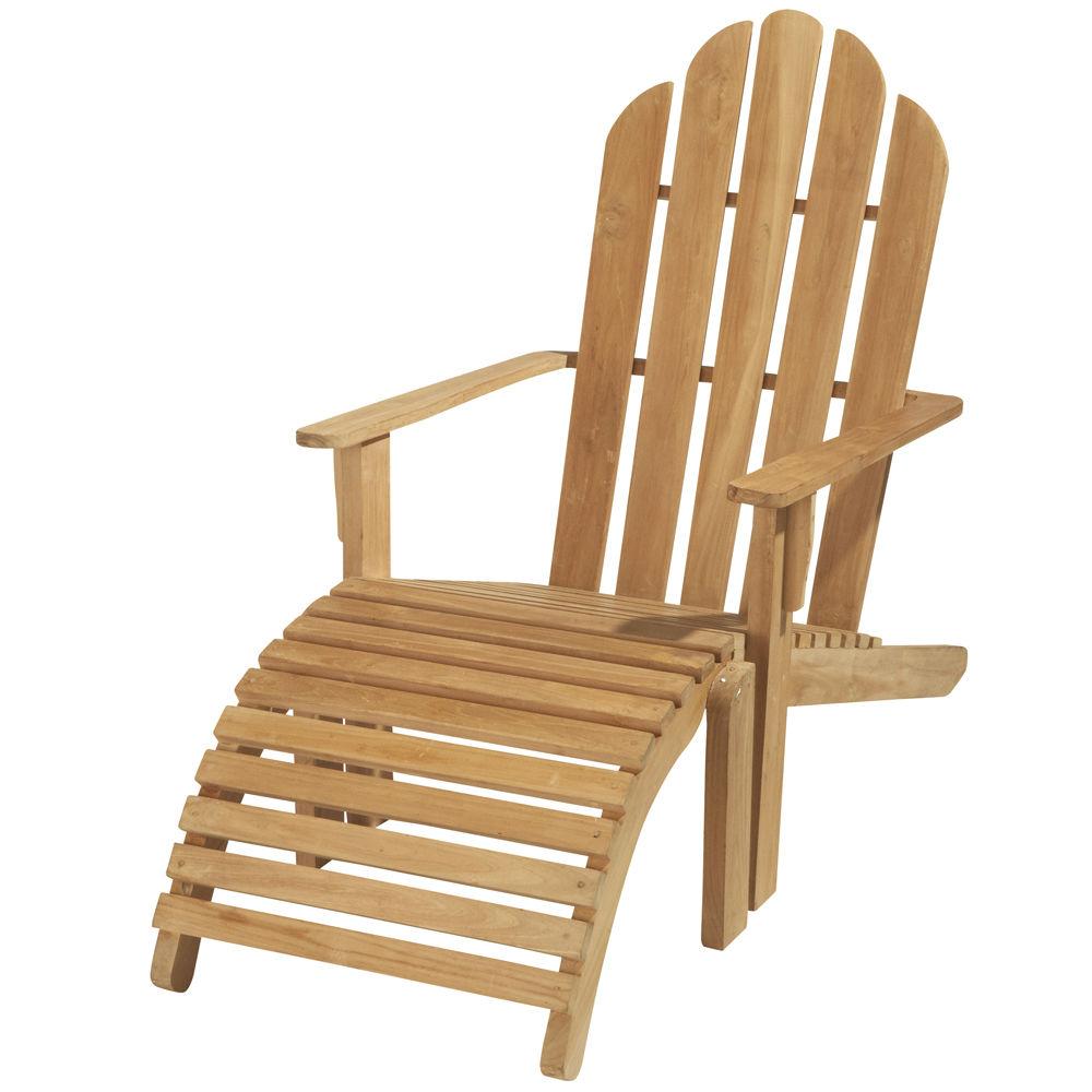 chaise longue de jardin bois teck providence | maisons du monde - Chaise Longue Jardin Bois