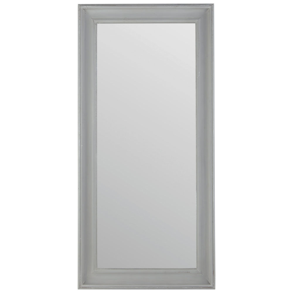 Miroir sully gris maisons du monde for Grand miroir gris