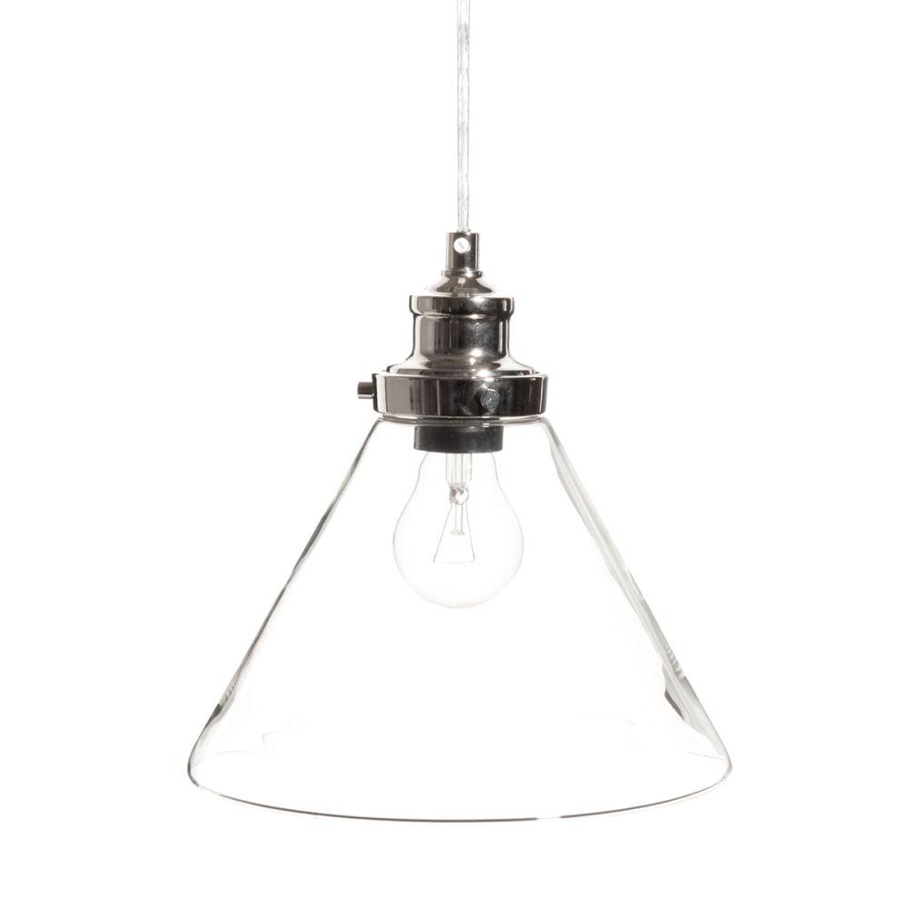 Suspension en verre d 23 cm brocanteur maisons du monde - Lampe industrielle maison du monde ...