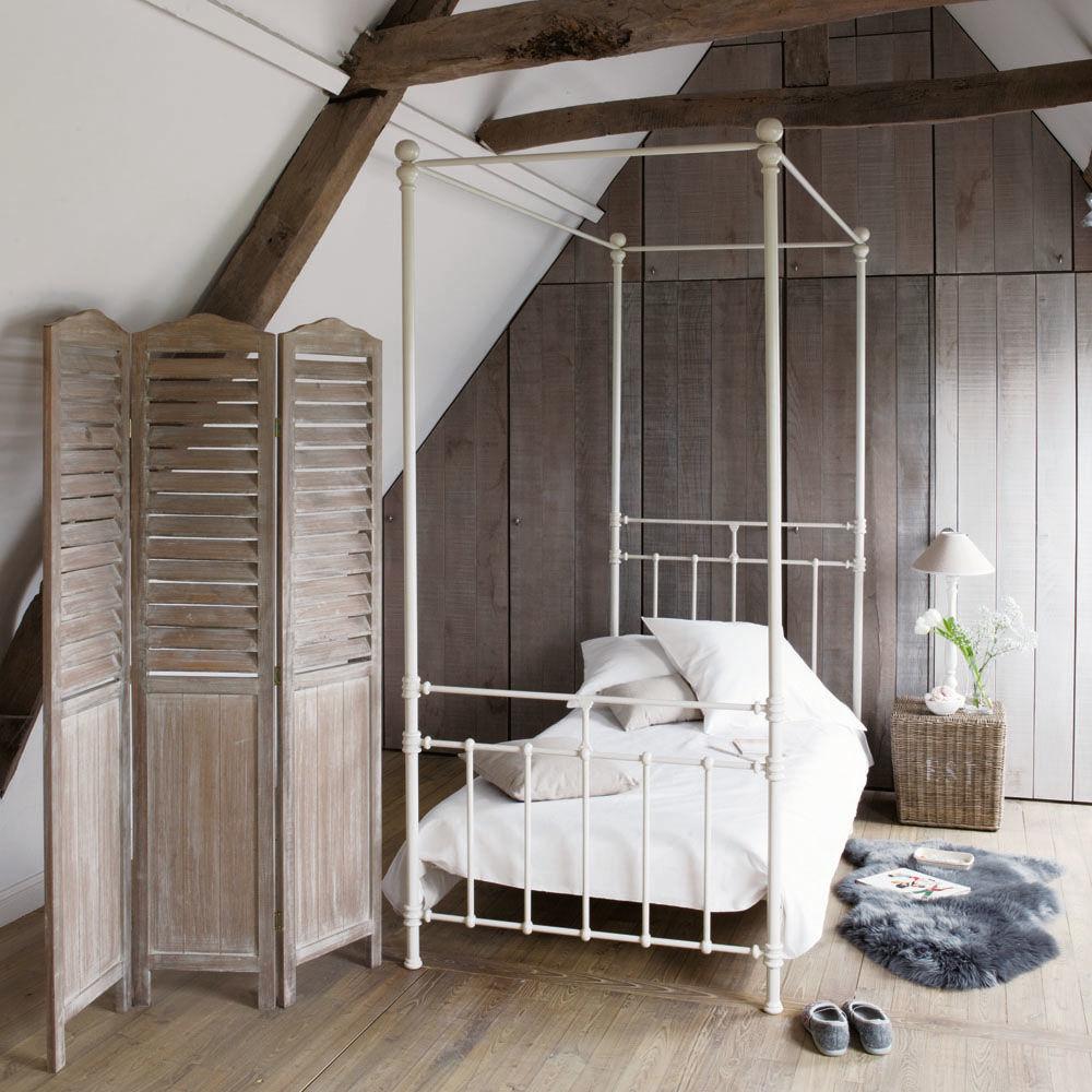 Paravent en bois l 106 cm eloise maisons du monde - Paravent maison du monde ...