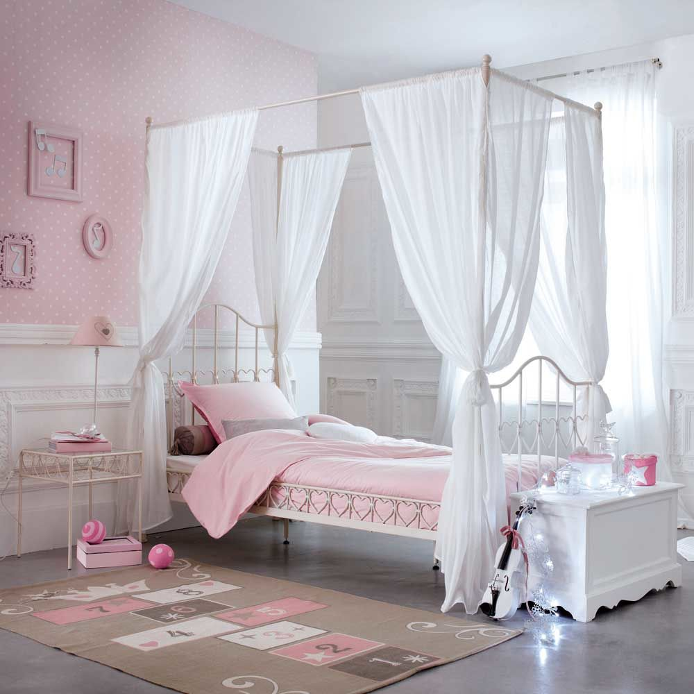 lit baldaquin enfant eglantine maisons du monde. Black Bedroom Furniture Sets. Home Design Ideas