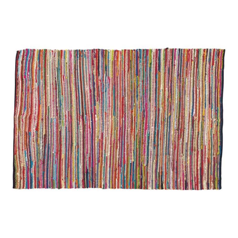 tapis tress en coton multicolore 140 x 200 cm roulotte. Black Bedroom Furniture Sets. Home Design Ideas